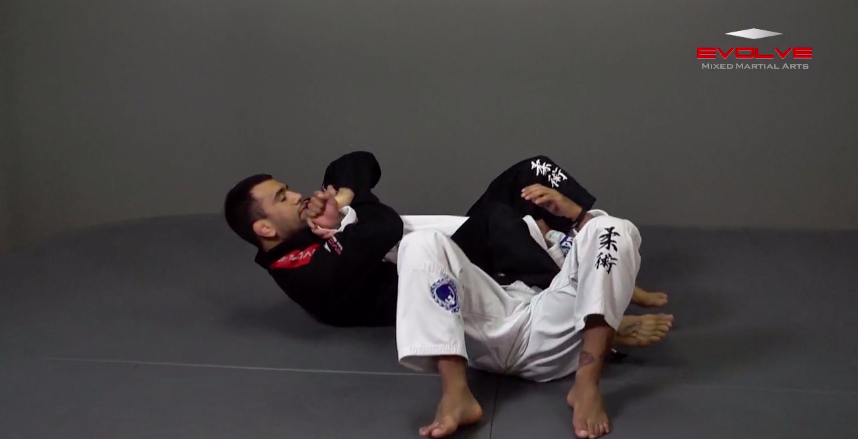 Armbar With Kimura Lock From Back Control.