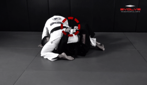 Arm Bar From Half Guard Variation