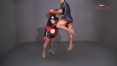 Attachai Fairtex: Clinch, Knee, Left Jump Knee