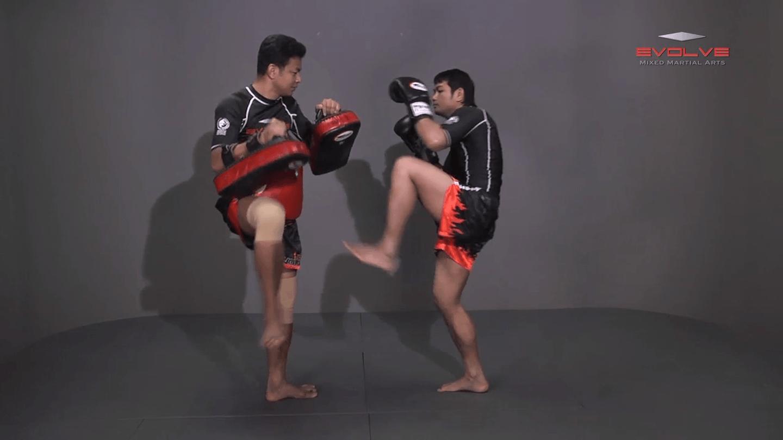 Attachai Fairtex: Left Kick, Fake To Left Push Kick