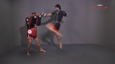 Attachai Fairtex: Push Away To Jump Kick
