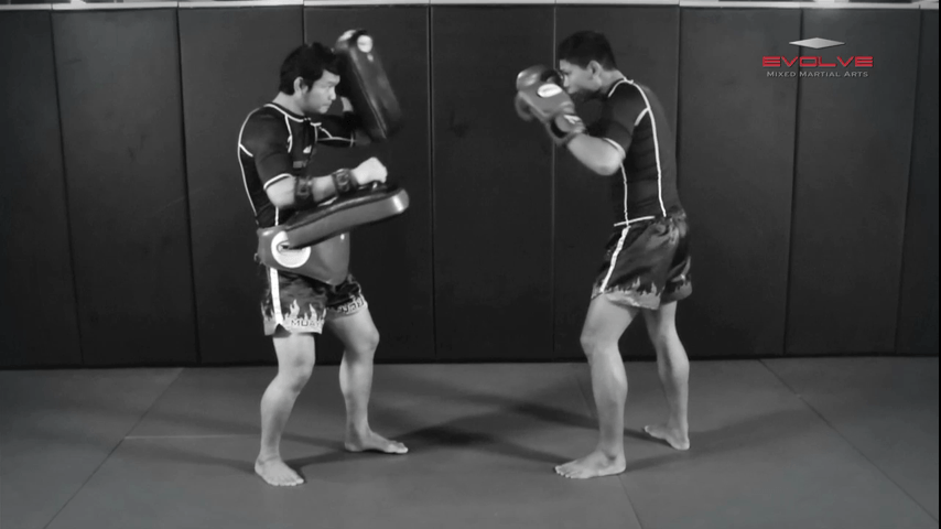 Chalee Sor Chaitamin: Jab, Left Inside Low Kick, Fake, Right Elbow