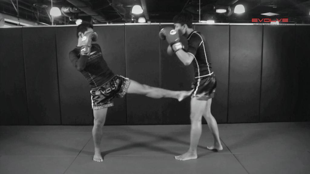 Chalee Sor Chaitamin: Push Kick Thigh, Sliding Push Kick To Body