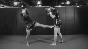 Chalee Sor Chaitamin: Push Kick Thigh, Sliding Push Kick To Body