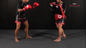 Chalee Sor Chaitamin: Right Kick, Opponent Catch, Right Punch, Right Elbow