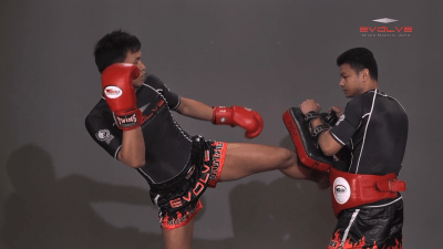 Chaowalith Jocky Gym: Inside Leg Kick, Body Kick