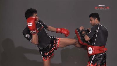 Chaowalith Jocky Gym: Inside Leg Kick, Body Kick