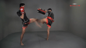 Chaowalith Jocky Gym: Right Block x2, Left Push Kick