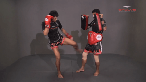 Chaowalith Jocky Gym: Right Hand Sweep, Right Hook, Left Low Kick