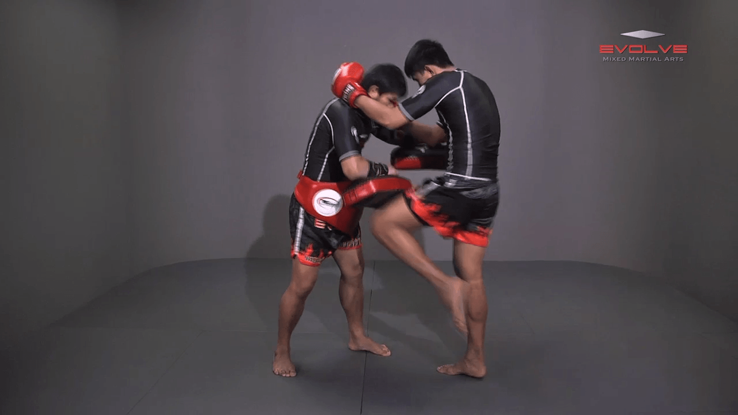 Clinch Pull Knee Left