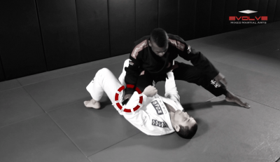 Collar Choke From Knee On Belly