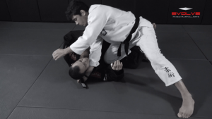 Collar Choke From Top Half Guard