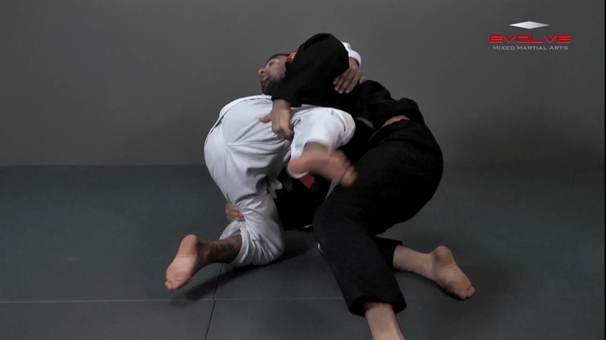 Defense Against Double Underhooks Pass – Double Leg Sweep