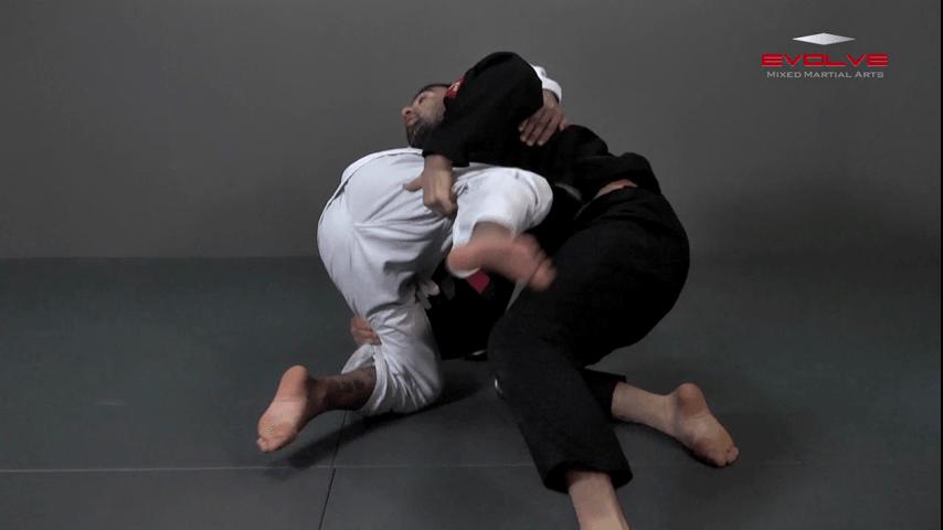 Defense Against Double Underhooks Pass – Double Leg Sweep