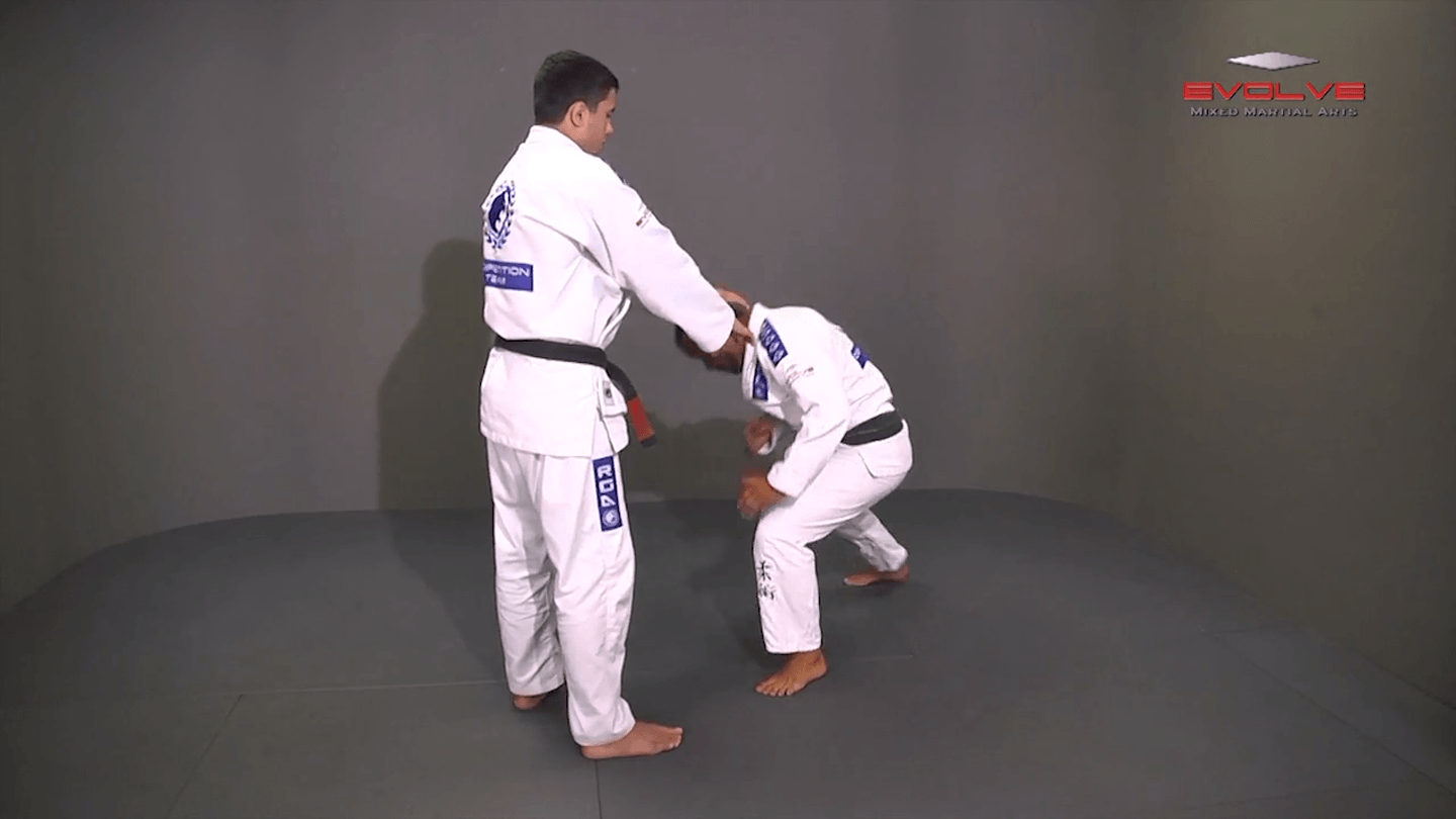 Defense Against Two Handed Front Choke