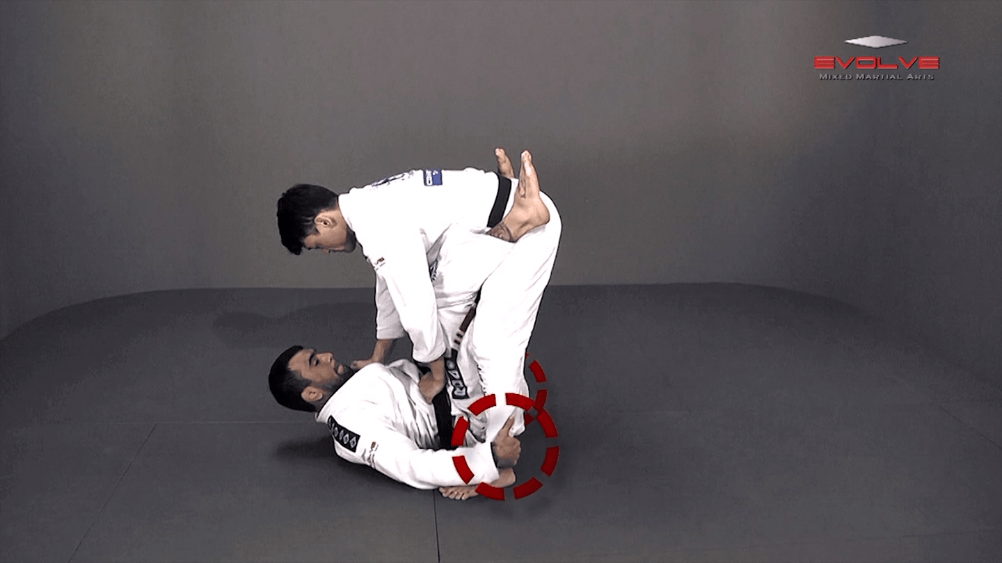 Double Leg Sweep To Armbar