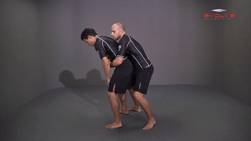Double Underhook To Shrug Duck Under