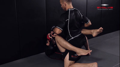 Ground & Pound Against The Cage Controlling One Leg