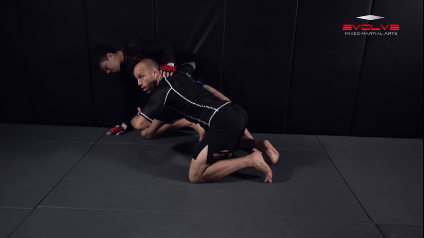 Ground & Pound Against The Cage Elevating The Leg