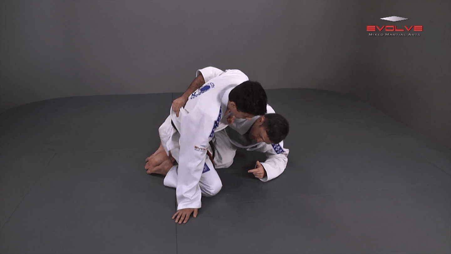 Half Guard Sweep Using Lapel Grip