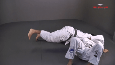 Half Guard To Hook Sweep