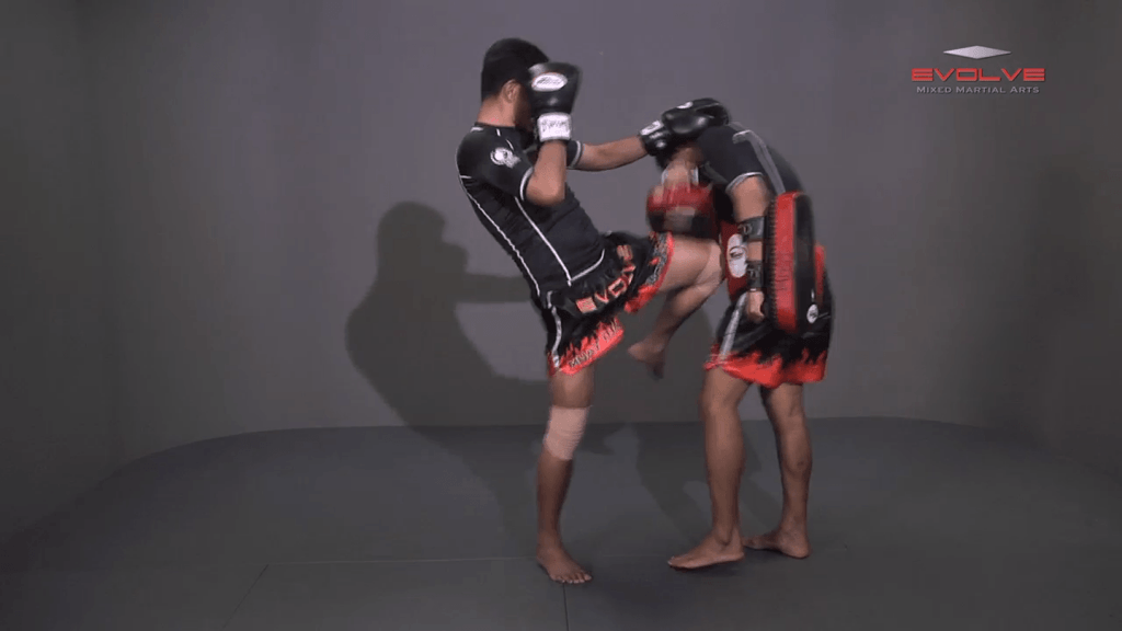 Lamnammoon Sor Sumalee: Jab, Cross, Left Knee x2
