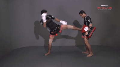 Lamnammoon Sor Sumalee: Jab, Push Kick, Jab, Slide Push Kick