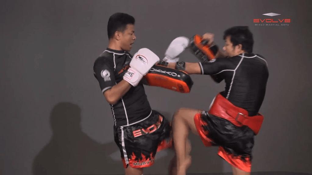 Lamnammoon Sor Sumalee: Left Knee, Fake, Cross, Left Kick