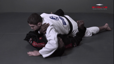 Lapel Choke From Top Half Guard