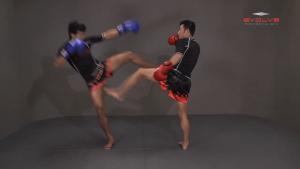 Muangfalek Kiatvichian: Left Low Kick, Left Push Kick