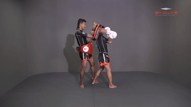 Muangfalek Kiatvichian: Slide & Catch to Spinning Back Elbow