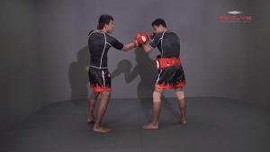Namsaknoi Yudthagarngamtorn: Left Block, Catch, Right Knee, Throw, Right Kick