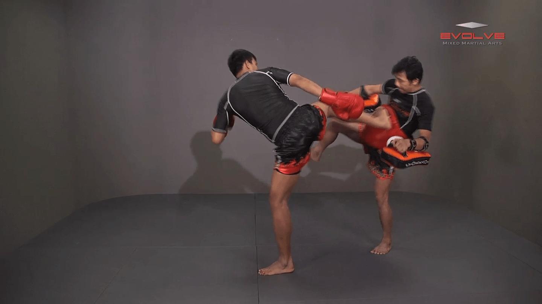 Namsaknoi Yudthagarngamtorn: Push Kick To Counter Leg Catch