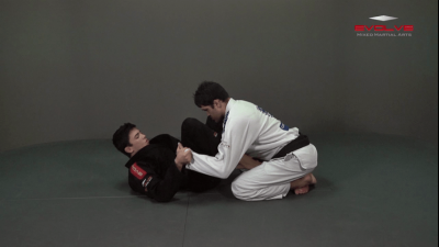 Open Guard Sweep To Knee On Belly