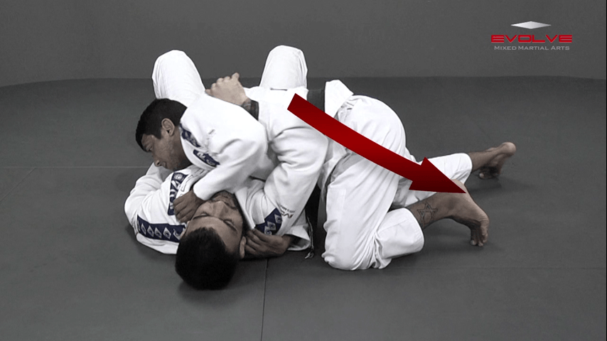 Paper Cut Choke From Side Control