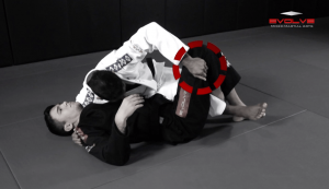 Reverse Half Guard Pass Variation