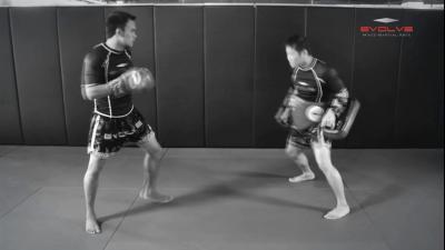 Saenghirun Lookbanyai: Catch, Low Kick, Right Bodyshot, Catch & Throw, Right High Kick