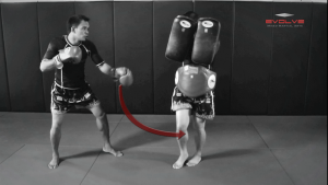 Saenghirun Lookbanyai: Catch & Throw, Right Kick X2, Catch, High Push Kick