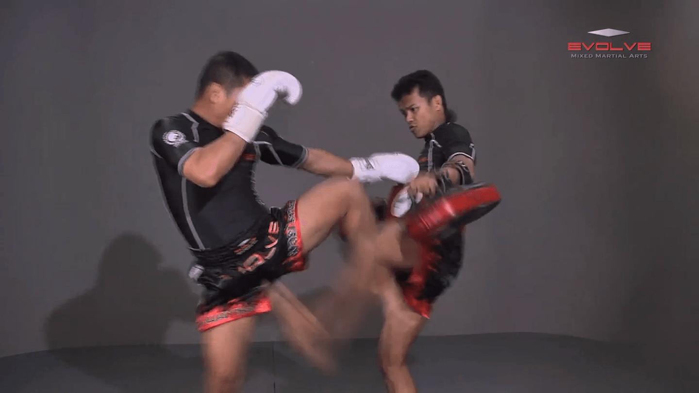 Saknarong Sityodtong: Cross Block, Right Kick
