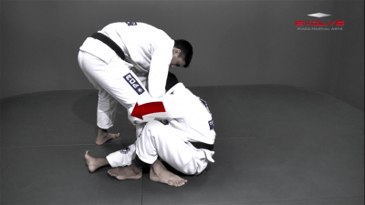 Single Leg Forward Sweep From Sitting Guard