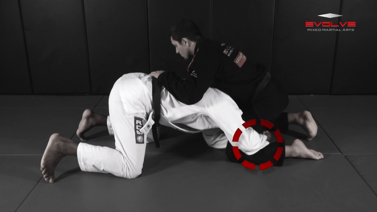 Transition From Single Leg To Back Control