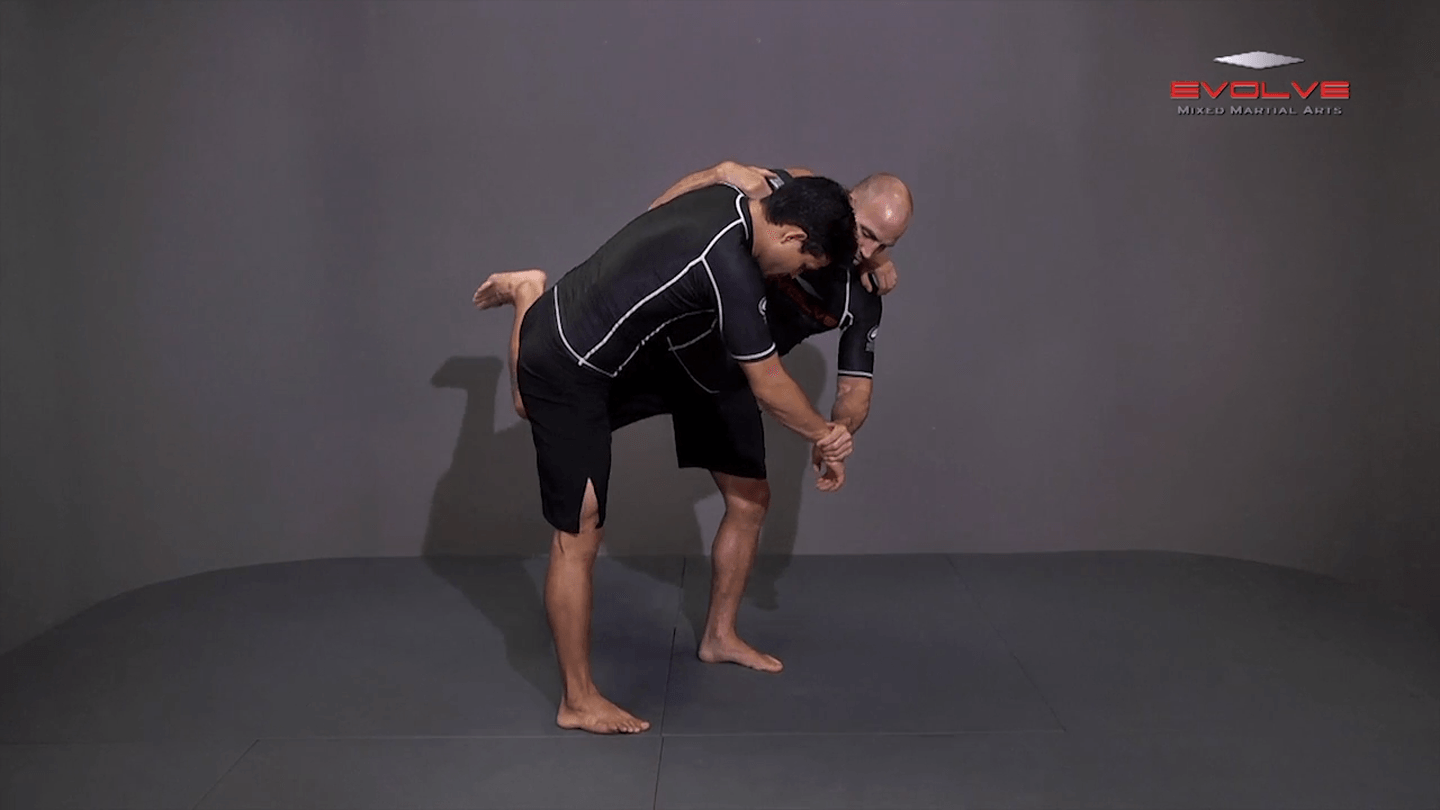 Underhook Position To An Ankle Pick