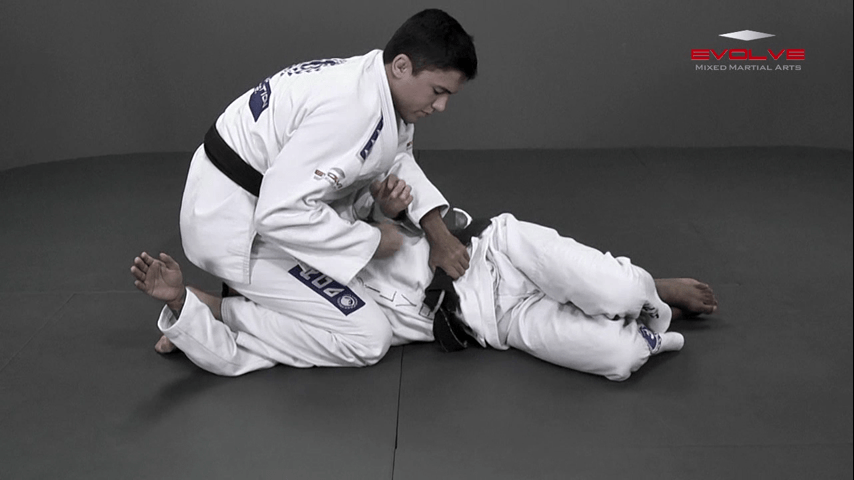 Wrist Lock Variation From Side Control