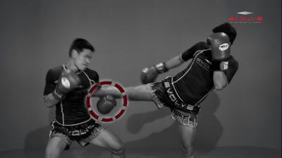 Yodbuangarm Lookbanyai: Push Kick, Fake, Turn Left, Right Knee