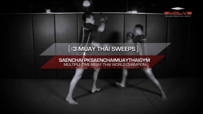 3 Muay Thai Sweeps With Saenchai