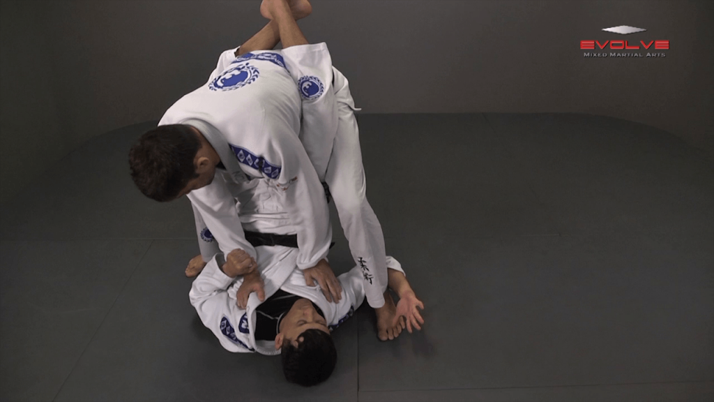 Knee Bar From Closed Guard