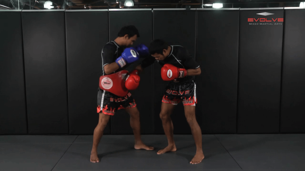 Clinch Boxing – Shoulder Push, Body, Head