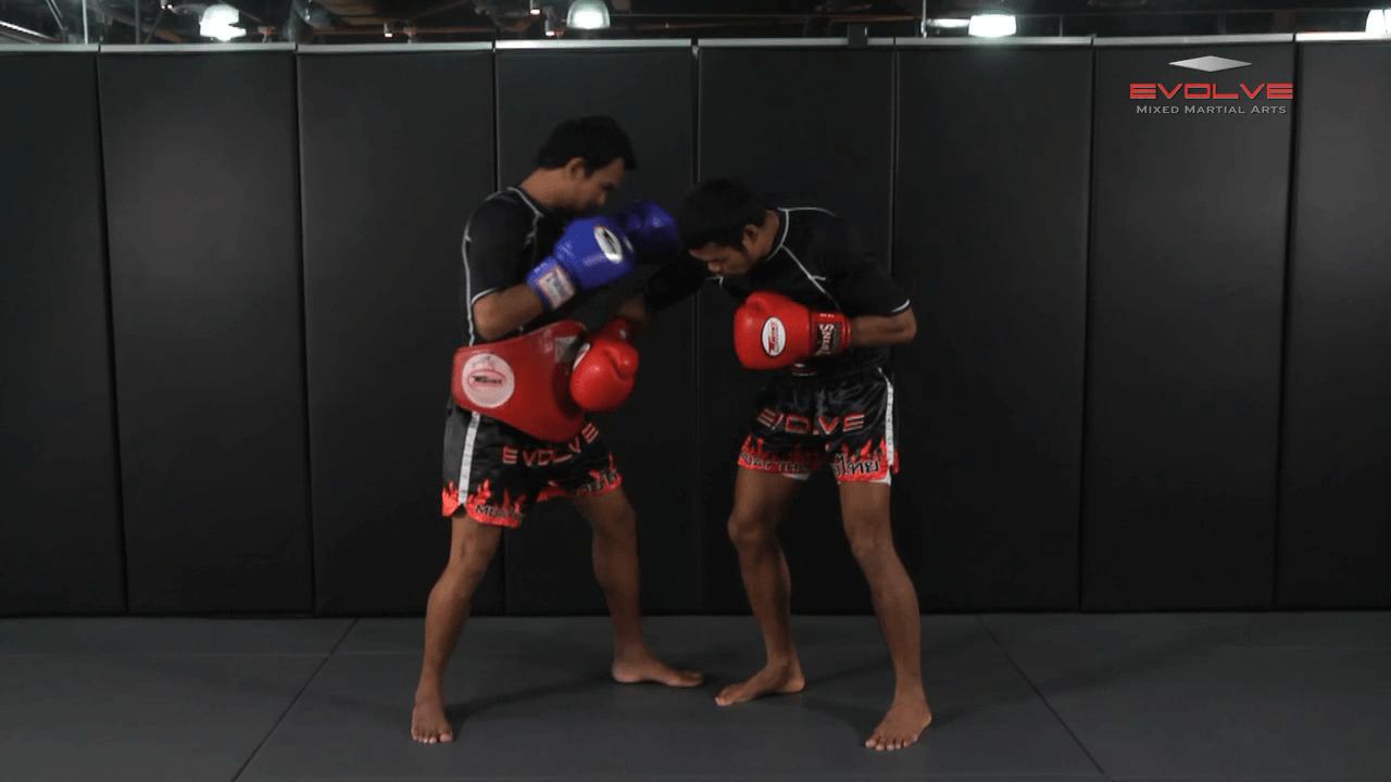 Clinch Boxing – Shoulder Push, Body, Head