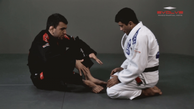 Butterfly Guard Basic Position