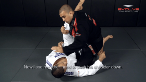 Knee Bar Variation From Half Guard
